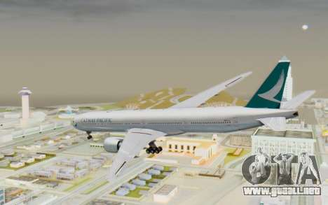 Boeing 777-300ER Cathay Pacific Airways v3 para GTA San Andreas left