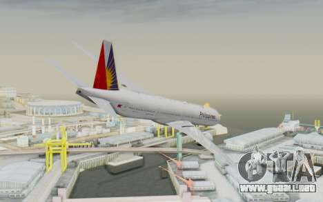 Boeing 777-300ER Philippine Airlines para GTA San Andreas left