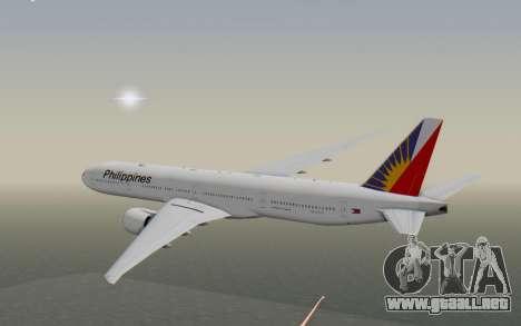 Boeing 777-300ER Philippine Airlines para la visión correcta GTA San Andreas