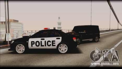 Subaru Impreza WRX STi Police Drift para vista inferior GTA San Andreas