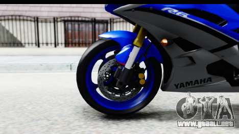 Yamaha YZF-R6 2006 with 2015 Livery para GTA San Andreas vista hacia atrás