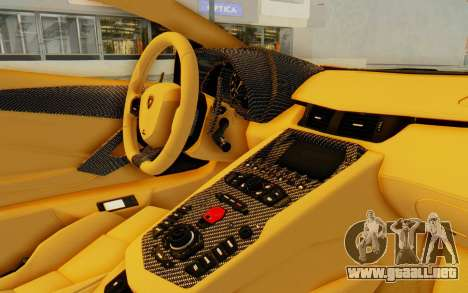 Lamborghini Aventador LP700-4 DMC para visión interna GTA San Andreas