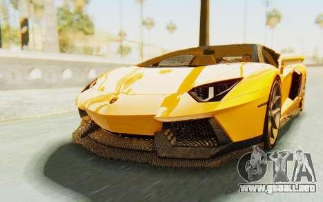 Lamborghini Aventador LP700-4 DMC para la visión correcta GTA San Andreas