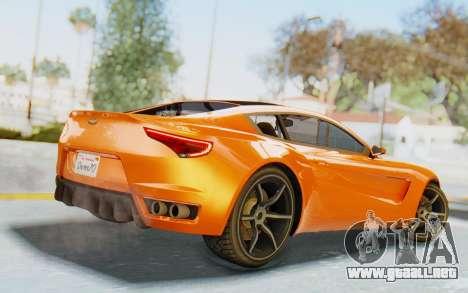 GTA 5 Dewbauchee Seven 70 IVF para GTA San Andreas left