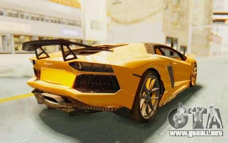 Lamborghini Aventador LP700-4 DMC para GTA San Andreas left