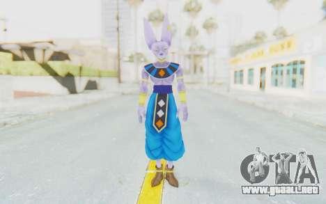 Dragon Ball Xenoverse Beerus para GTA San Andreas segunda pantalla