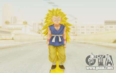 Dragon Ball Xenoverse Goku Kid GT SSJ3 para GTA San Andreas segunda pantalla