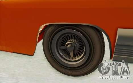 GTA 5 Declasse Voodoo Alternative v1 PJ para GTA San Andreas vista hacia atrás