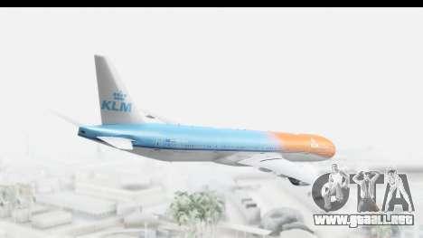 Boeing 777-300ER KLM Orange Pride para GTA San Andreas left