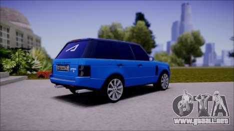 Land Rover Range Rover III (Pontorezka) para GTA San Andreas vista posterior izquierda