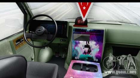 Chevrolet Astro Stance para GTA San Andreas vista hacia atrás