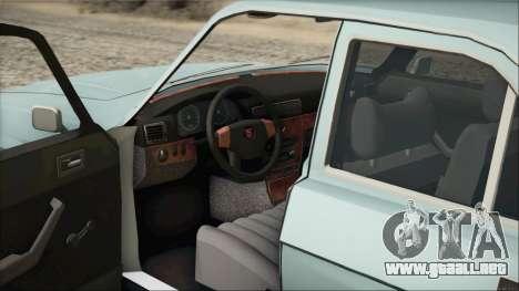 GAZ 3102 temprano para GTA San Andreas vista hacia atrás