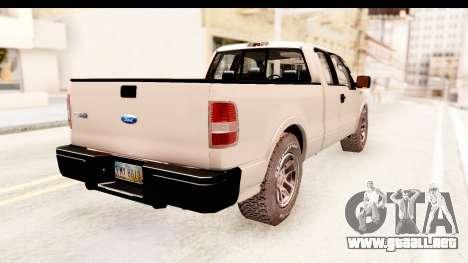 Ford F-150 4x4 2008 para GTA San Andreas left