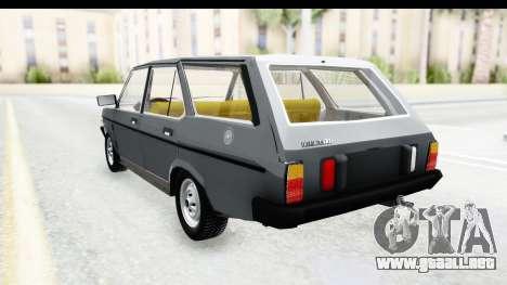 Fiat 131 Panorama para GTA San Andreas vista posterior izquierda