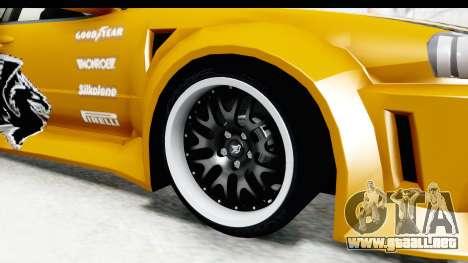NFSU Eddie Nissan Skyline para GTA San Andreas vista hacia atrás