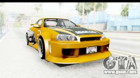 NFSU Eddie Nissan Skyline para la visión correcta GTA San Andreas