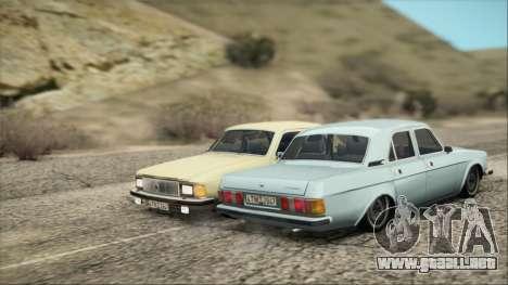 GAZ 3102 temprano para GTA San Andreas vista posterior izquierda