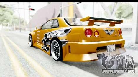 NFSU Eddie Nissan Skyline para GTA San Andreas left