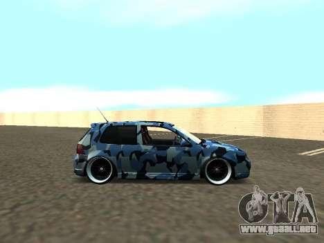 Volkswagen Golf MK4 R32 Postura para la visión correcta GTA San Andreas