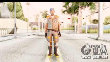 COD AW - John Malkovich Janitor para GTA San Andreas segunda pantalla