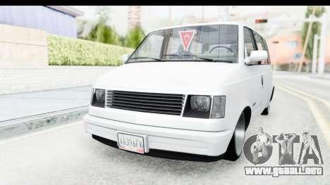 Chevrolet Astro Stance para la visión correcta GTA San Andreas