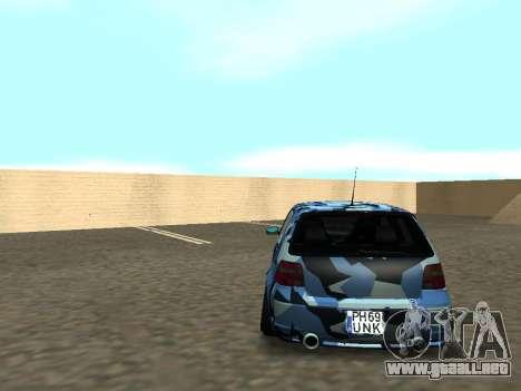 Volkswagen Golf MK4 R32 Postura para visión interna GTA San Andreas