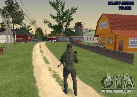 Luchador en la Diapositiva para GTA San Andreas tercera pantalla