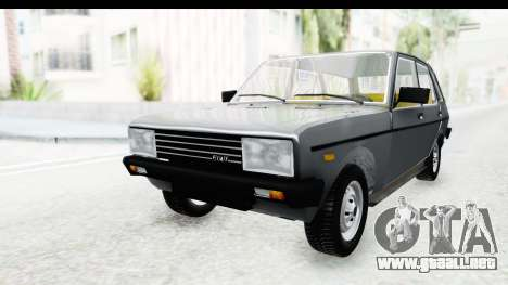 Fiat 131 Panorama para la visión correcta GTA San Andreas