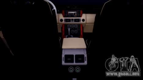 Land Rover Range Rover III (Pontorezka) para visión interna GTA San Andreas