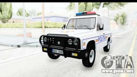 Aro 243 1996 Police para GTA San Andreas vista posterior izquierda