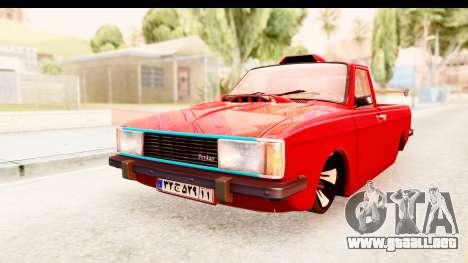 Peykan Pickup Full Sport Iranian para GTA San Andreas vista posterior izquierda