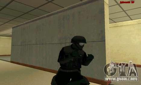 La piel de la FIB SWAT de GTA 5 para GTA San Andreas novena de pantalla