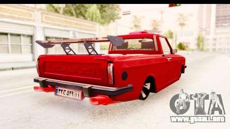 Peykan Pickup Full Sport Iranian para la visión correcta GTA San Andreas