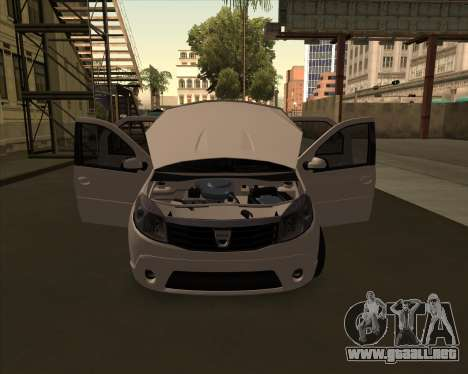 Dacia Logan Londero Misterios Urechiata para GTA San Andreas vista posterior izquierda