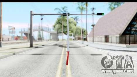 Katana from GTA Advance para GTA San Andreas segunda pantalla