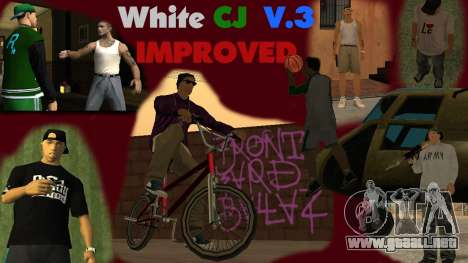 White CJ v3 Improved para GTA San Andreas