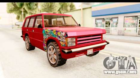 Huntley Sticker Bomb para la visión correcta GTA San Andreas