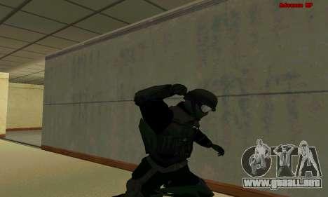 La piel de la FIB SWAT de GTA 5 para GTA San Andreas octavo de pantalla
