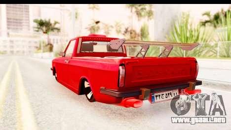 Peykan Pickup Full Sport Iranian para GTA San Andreas left