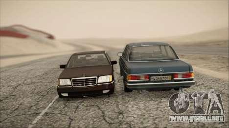 Mercedes-Benz s600 AMG para GTA San Andreas vista hacia atrás