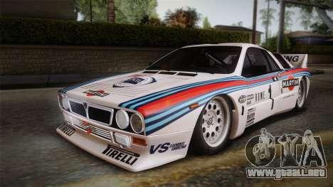 Lancia Rally 037 Stradale (SE037) 1982 Dirt PJ1 para GTA San Andreas left