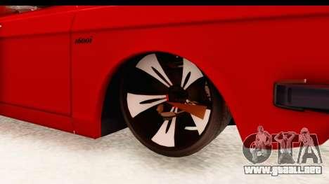 Peykan Pickup Full Sport Iranian para GTA San Andreas vista hacia atrás