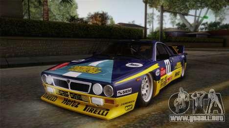 Lancia Rally 037 Stradale (SE037) 1982 Dirt PJ1 para GTA San Andreas vista posterior izquierda