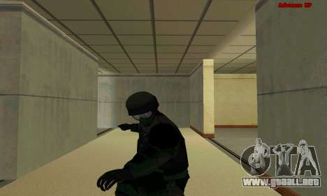La piel de la FIB SWAT de GTA 5 para GTA San Andreas séptima pantalla
