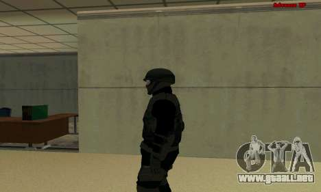 La piel de la FIB SWAT de GTA 5 para GTA San Andreas segunda pantalla