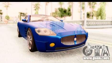 GTA EFLC TBoGT F620 v2 para GTA San Andreas vista posterior izquierda