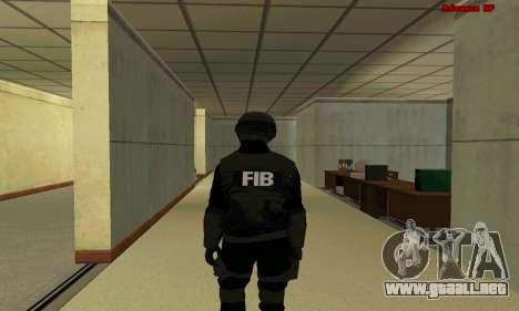 La piel de la FIB SWAT de GTA 5 para GTA San Andreas tercera pantalla
