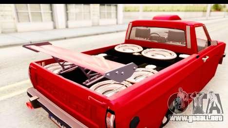 Peykan Pickup Full Sport Iranian para visión interna GTA San Andreas