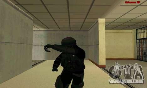 La piel de la FIB SWAT de GTA 5 para GTA San Andreas sexta pantalla