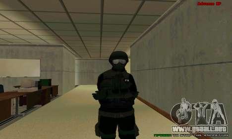 La piel de la FIB SWAT de GTA 5 para GTA San Andreas décimo de pantalla